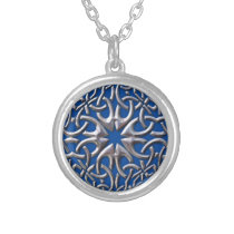 Celtic Medallion Round Pendant Necklace