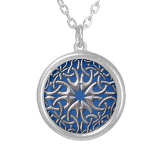 Celtic Medallion Round Pendant Necklace