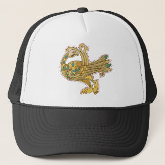 Celtic Medieval Golden Peacock,  Trucker Cap