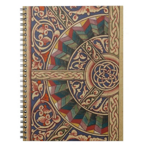 Celtic Medieval Half Circle Design Note Book