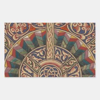 Celtic Medieval Half Circle Design Rectangle Stickers