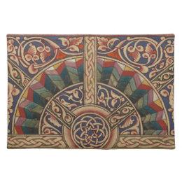 Celtic Medieval Half Circle Design Placemat