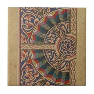 Celtic Medieval Half Circle Design Tiles