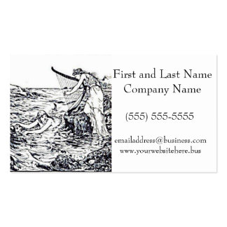 Celtic Mermaid Fairy Tale Illustration Double-Sided Standard Business Cards (Pack Of 100)