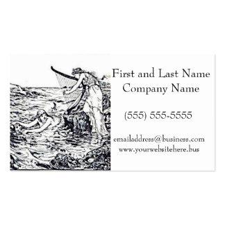 Celtic Mermaid Fairy Tale Illustration Business Card