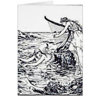 Celtic Mermaid Fairy Tale Illustration Card