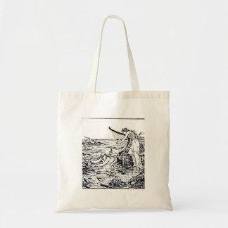 Celtic Mermaid Fairy Tale Illustration Tote Bag