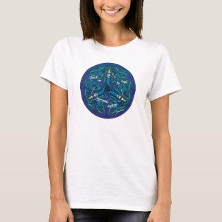 Celtic Mermaid Mandala in Blue and Green T-Shirt