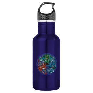 Celtic Mermaid Mandala Water Bottle
