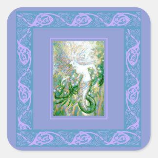 Celtic Mermaid Square Sticker