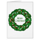 Celtic Merry Christmas Wreath Card