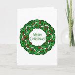 Celtic Merry Christmas Wreath Holiday Card
