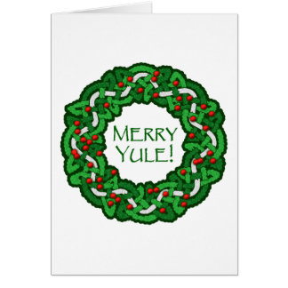 Celtic Merry Yule Wreath Cards