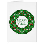 Celtic Merry Yule Wreath Greeting Card