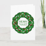 Celtic Merry Yule Wreath Holiday Card