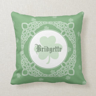 Celtic Mist Personalized Pillow - Green
