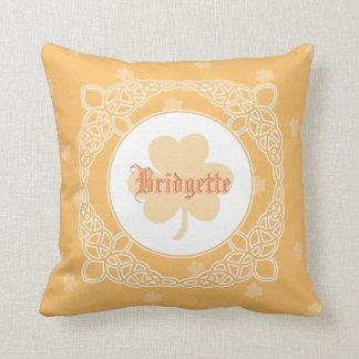 Celtic Mist Personalized Pillow - Peach