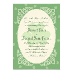 Celtic Mist Wedding Invitation - Green at Zazzle