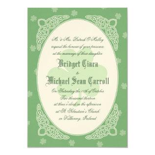 Celtic Mist Wedding Invitation - Green at Zazzle