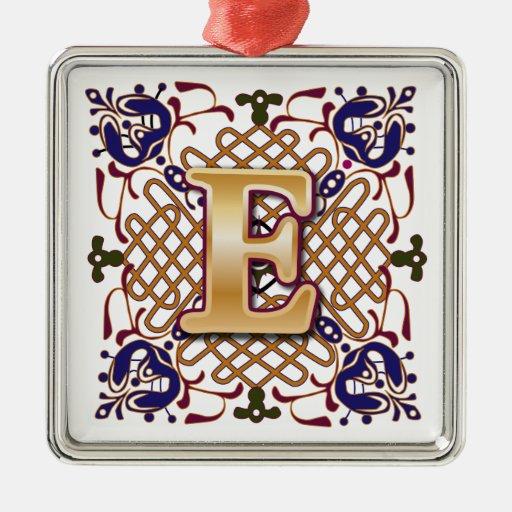 Celtic monogram letter e metal ornament zazzle