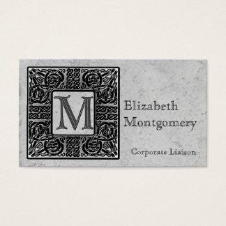 Celtic Monogram M Professional Business Cards