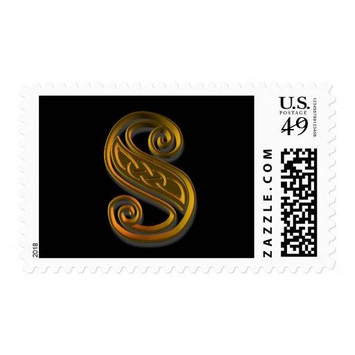 Celtic Monogram Postage