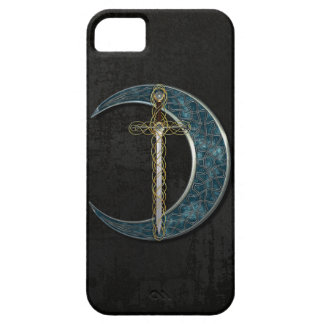 Celtic Moon And Sword iPhone SE/5/5s Case
