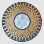 Celtic Moon Sml Classic Round Sticker