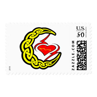 Celtic Moon w/ Heart Postage