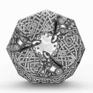 Celtic,Moon Watching Hare's Acrylic Award
