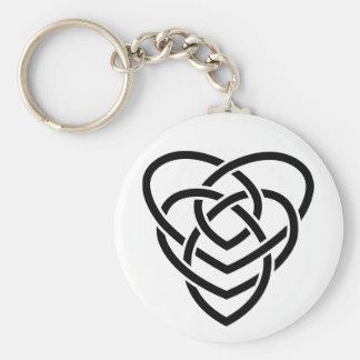 Celtic Motherhood Knot Basic Round Button Keychain