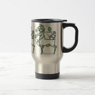 Celtic Mug, Herne Deer Design Travel Mug