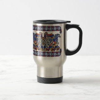 Celtic Mugs, Horses & Birds Design #2 Travel Mug