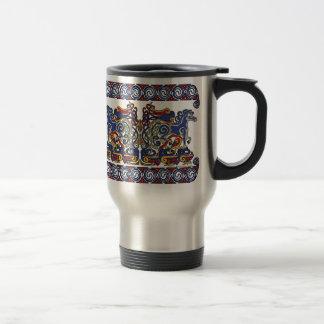 Celtic Mugs, Horses & Birds Design #2 Travel Mug