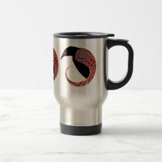 Celtic Mugs, Morrigan Raven Design #2 Travel Mug