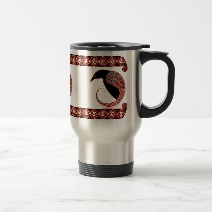 Celtic Mugs Morrigan Raven Design Travel Mug Zazzle