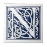 Celtic N Monogram Ceramic Tiles