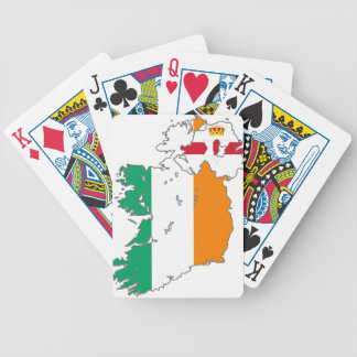 Celtic Nation Irish Map Bicycle Playing Cards