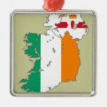 Celtic Nation Irish Map Christmas Tree Ornaments
