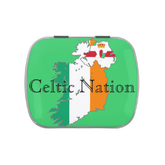 Celtic Nation Map Candy Tin