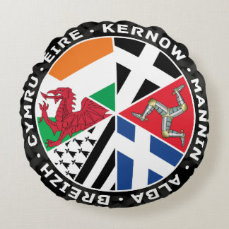 Celtic Nations Countries Flags Round Pillow