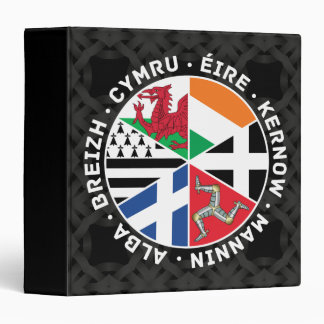 Celtic Nations Flags 3 Ring Binder