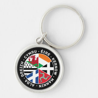 Celtic Nations Flags Keychain