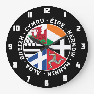 Celtic Nations Flags Large Clock