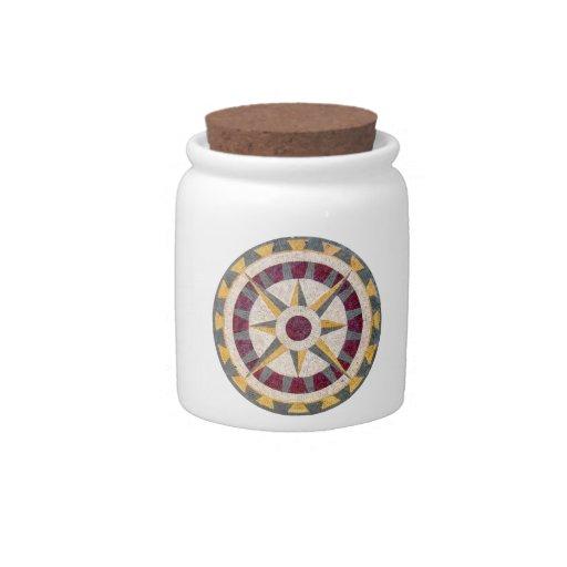 Celtic Nautical Compass Candy Jar