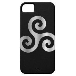 Celtic Neopaganism triple spiral triskelion.jpg iPhone SE/5/5s Case