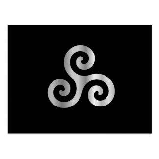 Celtic Neopaganism triple spiral triskelion.jpg Postcard