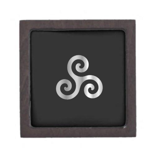 Celtic Neopaganism triskelion.jpg espiral triple Caja De Recuerdo De Calidad