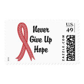 Celtic Never Give Up Hope Alcohol & Drug Abuse Postage Stamp
