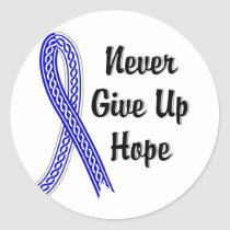 Celtic Never Give Up Hope ALS Classic Round Sticker